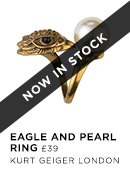 Eagle and Pearl Ring- Kurt Geiger London - Available 1st Aug