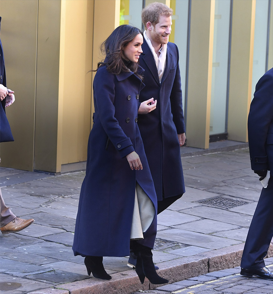 Meghan Markle: Violet Boot Back In Stock