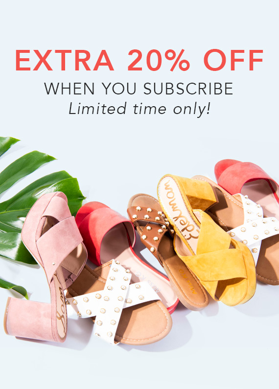 For a limited time only, receive an extra 20% off, plus gain VIP access to the latest brand launches and flash sales!