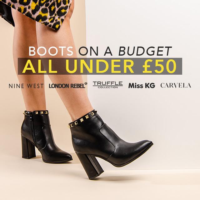 BOOTS UNDER £50