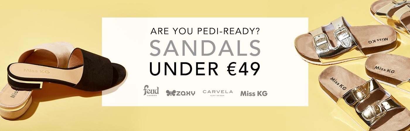 ARE YOU PEDI-READY? SANDALS UNDER €49