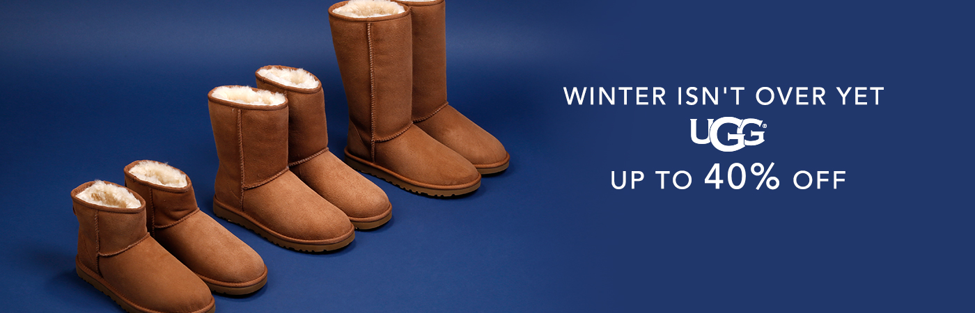 Winter isn't over yet Ugg Up to 40% off