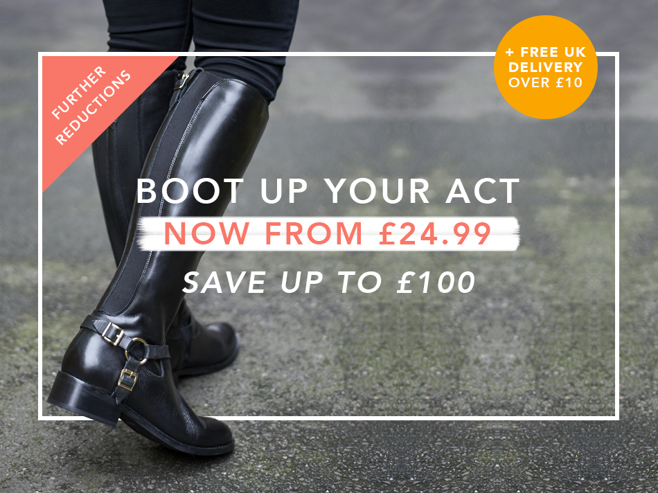 Boot up your act. Now from £24.99