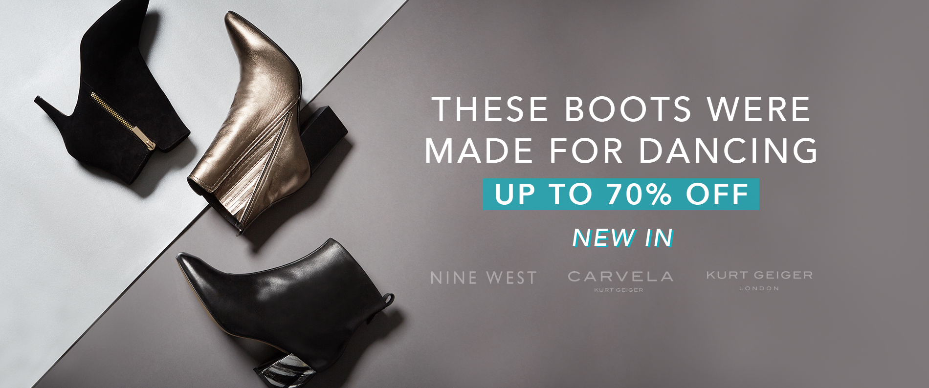 These boots were made for dancing. Up to 70% off